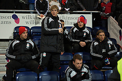 PRESTON, ENGLAND - Saturday, January 3, 2009: Liverpool's Fernando Torres returns to the substitutes bench for the first time following a hamstring injury, for the FA Cup 3rd Round match against Preston North End at Deepdale. (Photo by David Rawcliffe/Propaganda)
