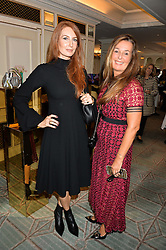 Left to right, ANGELA RADCLIFFE and CARMEL SCOTT at the 3rd annual Gynaecological Cancer Fund Ladies Lunch at Fortnum & Mason, 181 Piccadilly, London on 29th September 2016.