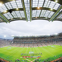 24 February 2007; A general view of Croke Park during the National Anthems. RBS Six Nations Rugby Championship, Ireland v England, Croke Park, Dublin. Picture Credit: Brian Lawless / SPORTSFILE