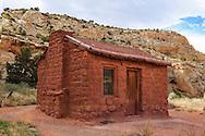 The Elijah Cutler Behunin Cabin in Capitol Reef National Park, 1883-84, Utah, USA