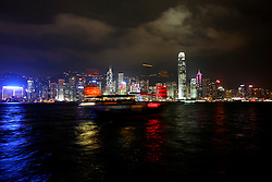 CHINA HONG KONG 26MAY10 - Lighting of the iconic skyline of the highrise buildings in central on Hong Kong island, overlooking Victoria Harbour...jre/Photo by Jiri Rezac..© Jiri Rezac 2010