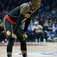 08 January 2018: Atlanta Hawks guard Dennis Schroder (17) is seen during the LA Clippers 108-107 victory over the Atlanta Hawks, at the Staples Center, Los Angeles, California, USA.