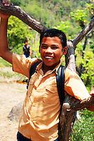 A smiling, happy schoolboy in Bali, Indonesia.
