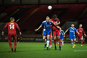 Leyton Orient defending during the Vanarama National League match between Leyton Orient and Gateshead at the Matchroom Stadium, London, England on 24 October 2017. Photo by Robin Pope.