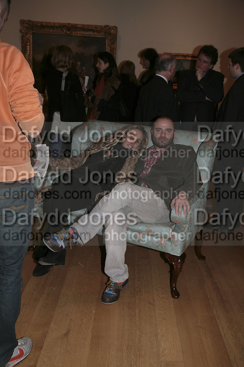 Amelia Troubridge and James Collard, Hogarth private view and dinner. Tate Britain. London. 5 February 2007.  -DO NOT ARCHIVE-© Copyright Photograph by Dafydd Jones. 248 Clapham Rd. London SW9 0PZ. Tel 0207 820 0771. www.dafjones.com.