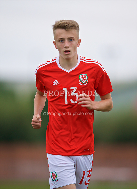 NEWPORT, WALES - Sunday, September 24, 2017: Wales' Eli King during an Under-16 International friendly match between Wales and Gibraltar at the Newport Stadium. (Pic by David Rawcliffe/Propaganda)