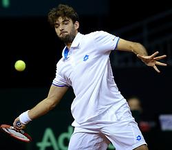 13-09-2014 NED: Davis Cup Nederland - Kroatie, Amsterdam<br /> Nederland verliest de dubbel en staat op de tweede dag met 2-1 achter / Marin Cilic