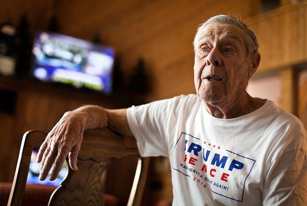 REEDSBURG, WI – JANUARY 20: Al Exner, Chairman of the Sauk County Republican Party poses for a portrait at the Inn at Wawanissee Point in Baraboo on January 20, 2017. Exner and other Sauk County Republicans gathered there for a Presidential Inauguration watch party.