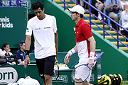 Murray (GBR) Melo (BRA) Vs Cabal (COL) Farah (COL) Action at the Nature Valley International Eastbourne 2019, at Devonshire Park, Eastbourne, United Kingdom on 25th June 2019, Picture by Jonathan Dunville