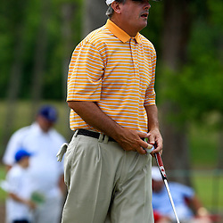 2009 April 26: Paul Goydos of Coto de Caza, CA on the seventh hole during the final round of the Zurich Classic of New Orleans PGA Tour golf tournament played at TPC Louisiana in Avondale, Louisiana.