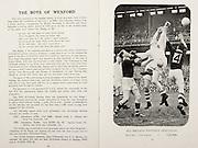 All Ireland Senior Hurling Championship Final, .Brochures, .23.09.1956, 09.23.1956, 23rd September 1956,.Wexford 2-14, Cork 2-8,.Minor Kilkenny v Tipperary, .Senior Cork v Wexford,.Croke Park,..Articles, The Boys of Wexford,