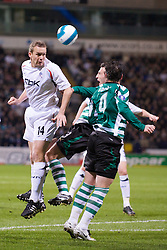 BOLTON, ENGLAND - Thursday, March 6, 2008: Bolton Wanderers' Kevin Davies in action against Sporting Clube de Portugal during the UEFA Cup Round of 16 1st Leg match at the Reebok Stadium. (Pic by David Rawcliffe/Propaganda)