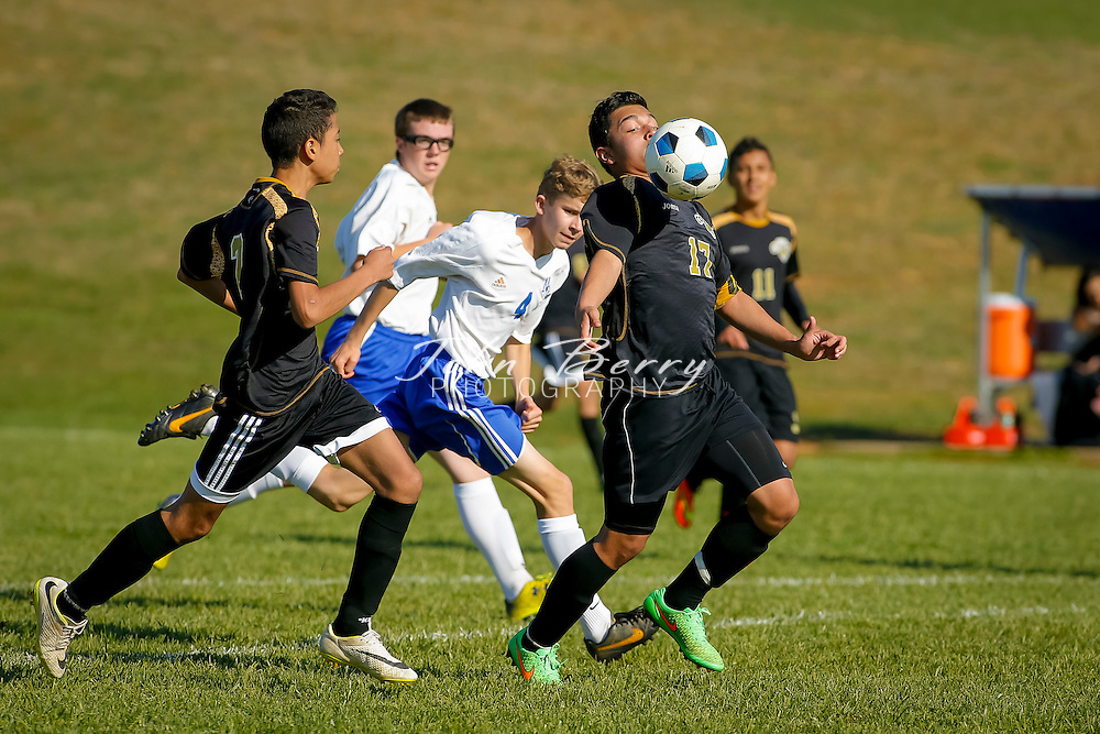 April 28, 2015.  <br /> MCHS JV Boys Soccer vs Manassas Park