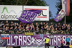 Fans of NK Maribor during football match between NŠ Mura and NK Maribor in semifinal Round of Pokal Telekom Slovenije 2018/19, on April 24, 2019 in Fazanerija, Murska Sobota, Slovenia. Photo by Blaž Weindorfer / Sportida