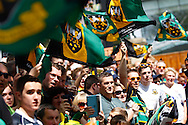 Northampton Saints supporters before during the Aviva Premiership final at Twickenham Stadium, Twickenham<br /> Picture by Andrew Tobin/Focus Images Ltd +44 7710 761829<br /> 31/05/2014