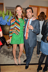 HEATHER KERZNER and JAMES HENDERSON at a party to celebrate the 30th anniversary of Linley held at Linley, 60 Pimlico Road, London on 3rd May 2016.