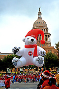Coca-Cola Polar Bear float at the 20th Annual Chuy's Children Giving to Children Parade, Austin, Texas, November 29, 2008. Chuy's is a Tex Mex restaurant in Austin.  The Children Giving to Children Parade features gifts given by the viewers to Operation Blue Santa.