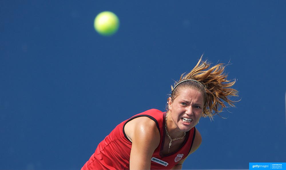 Kateryna Bondarenko, Ukraine, in action against Yanina Wickmayer, Belgium,  during the US Open Tennis Tournament at Flushing Meadows, New York, USA, on Wednesday, September 9, 2009. Photo Tim Clayton.