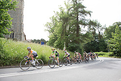 Anouska Koster (NED) of Rabo-Liv Cycling Team and Rossella Ratto (ITA) of Cylance Pro Cycling leads the peloton during the Aviva Women's Tour 2016 - Stage 1. A 138.5 km road race from Southwold to Norwich, UK on June 15th 2016.