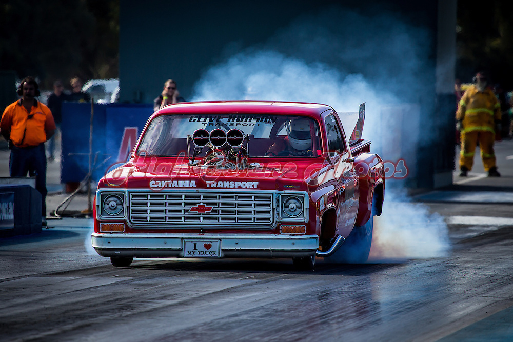 Clive Hudson (1481) - Big Red Truck - Chevrolet C10 Supercharged Outlaw.