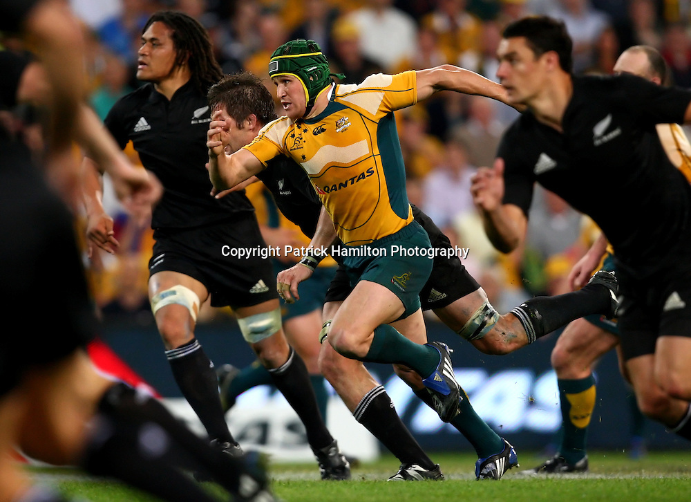 Matt Giteau.All Blacks v Australia Tri Nations Rugby Union Test Match. Suncorp Stadium ,Brisbane. Australia,Saturday 13 September 2008 .