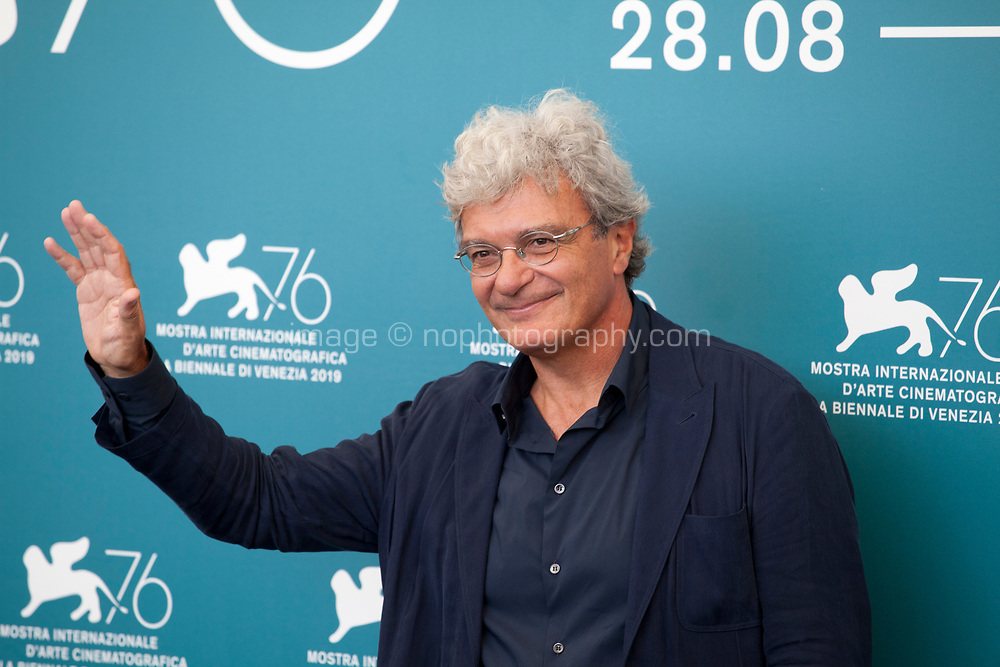 Venice, Italy, 30th August 2019, director Mario Martone at the photocall for the film The Mayor of Rione Sanita (Il Sindaco Del Rione Sanita) at the 76th Venice Film Festival, Sala Grande. Credit: Doreen Kennedy/Alamy Live News