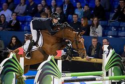 Thomas Gilles, BEL, Edison van Schuttershof<br /> Young Stallions 6 years of age<br /> Vlaanderens Kerstjumping Memorial Eric Wauters<br /> © Dirk Caremans<br /> 27/12/2016