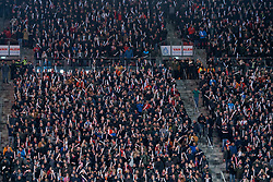 Support FC utrecht during the semi final KNVB Cup between FC Utrecht and Ajax Amsterdam at Stadion Nieuw Galgenwaard on March 04, 2020 in Amsterdam, Netherlands