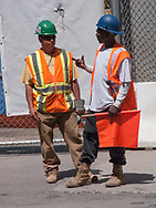 Construction workers at Ground Zero, World Financial Center, New York City.