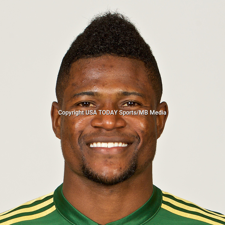 Feb 25, 2017; USA; Portland Timbers player Dairon Asprilla poses for a photo. Mandatory Credit: USA TODAY Sports