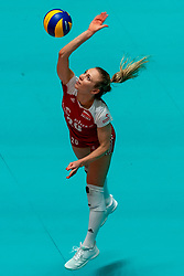 29-05-2019 NED: Volleyball Nations League Poland - Brazil, Apeldoorn<br /> Marlena Plesnierowicz #20 of Poland