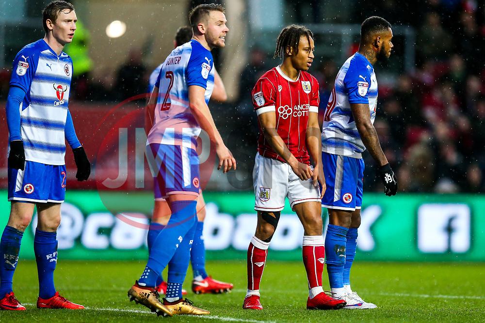 Bobby Reid of Bristol City looks on - Rogan/JMP - 26/12/2017 - Ashton Gate Stadium - Bristol, England - Bristol City v Reading - Sky Bet Championship.