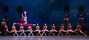La Bayadere <br /> A ballet in three acts <br /> Choreography by Natalia Makarova <br /> After Marius Petipa <br /> The Royal Ballet <br /> At The Royal Opera House, Covent Garden, London, Great Britain <br /> General Rehearsal <br /> 30th October 2018 <br /> <br /> STRICT EMBARGO ON PICTURES UNTIL 2230HRS ON THURSDAY 1ST NOVEMBER 2018 <br /> <br /> Marianela Nunez as Nikiya <br /> A Bayadere and a temple dancer <br /> <br /> <br /> <br /> Photograph by Elliott Franks Royal Ballet's Live Cinema Season - La Bayadere is being screened in cinemas around the world on Tuesday 13th November 2018 <br />