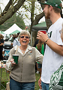 Alumni enjoying lunch and socializing during Ohio University's Homecoming 2013 Tailgate. Photo by Elizabeth Held