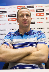 Vladan Matic, head coach of Celje during press conference after the handball match between RK Celje Pivovarna Lasko and IK Savehof (SWE) in 3rd Round of Group B of EHF Champions League 2012/13 on October 13, 2012 in Arena Zlatorog, Celje, Slovenia. (Photo By Vid Ponikvar / Sportida)