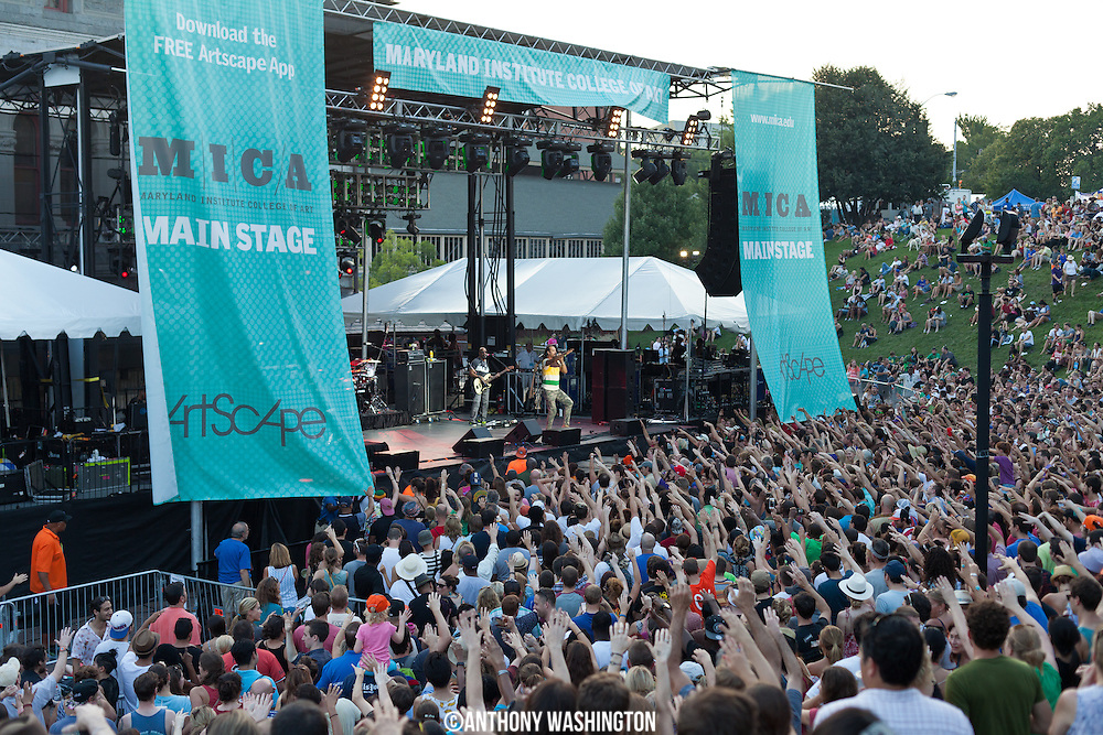 Michael Franti & Spearhead perform at Artscape 2015 on Saturday, July 18, 2015 in Baltimore, MD.