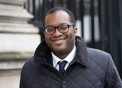 © Licensed to London News Pictures. 18/12/2018. London, UK. Under-Secretary of State at the Department for Exiting the European Union Kwasi Kwarteng leaves Downing Street as a cabinet meeting takes place. Photo credit: Peter Macdiarmid/LNP