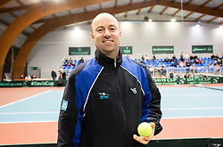 Iztok Bozic during Day 3 of the tennis matches between Slovenia and Monaco of 2017 Davis Cup Europe/Africa Zone Group II, on February 5, 2017 in Tennis Arena Tabor, Maribor Slovenia. Photo by Vid Ponikvar / Sportida