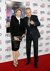 Warren Beatty and Annette Bening at the AFI FEST 2016 Opening Night Premiere of 'Rules Don't Apply' held at the TCL Chinese Theatre in Hollywood, USA on November 10, 2016.