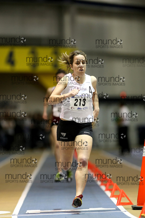 Windsor, Ontario ---14/03/09--- Chris Hartman of  the University of Waterloo competes in the Women's 1500m Final at the CIS track and field championships in Windsor, Ontario, March 14, 2009..Sean Burges Mundo Sport Images