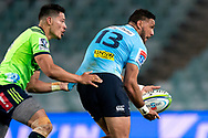 SYDNEY, NSW - MAY 19: Waratahs player Curtis Rona gets the pass away at week 14 of the Super Rugby between The Waratahs and Highlanders at Allianz Stadium in Sydney on May 19, 2018. (Photo by Speed Media/Icon Sportswire)
