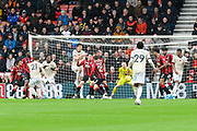 Daniel James (21) of Manchester United shoots at goal during the Premier League match between Bournemouth and Manchester United at the Vitality Stadium, Bournemouth, England on 2 November 2019.