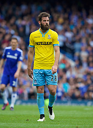 LONDON, ENGLAND - Sunday, May 3, 2015: Crystal Palace's Joe Ledley in action against Chelsea during the Premier League match at Stamford Bridge. (Pic by David Rawcliffe/Propaganda)