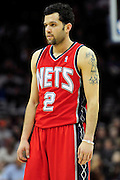 March 23, 2010; Cleveland, OH, USA; New Jersey Nets point guard Jordan Farmar (2) during the third quarter against the Cleveland Cavaliers at Quicken Loans Arena. The Nets beat the Cavaliers 98-94 in overtime. Mandatory Credit: Jason Miller-US PRESSWIRE