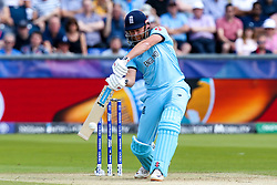 Jonny Bairstow of England goes on the attack - Mandatory by-line: Robbie Stephenson/JMP - 03/07/2019 - CRICKET - Emirates Riverside - Chester-le-Street, England - England v New Zealand - ICC Cricket World Cup 2019 - Group Stage