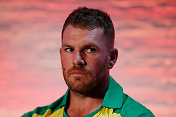 Australia's Aaron Finch during the Cricket World Cup captain's launch event at The Film Shed, London.