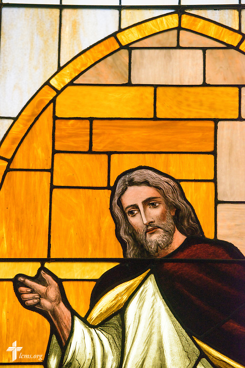 Stained glass depicting Jesus Christ, taken Thursday, Oct. 27, 2016, at First Immanuel Lutheran School in Cedarburg, Wis. LCMS Communications/Erik M. Lunsford