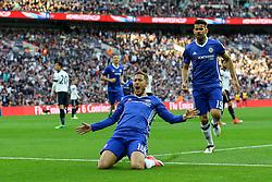 Goal, Eden Hazard of Chelsea scores, Chelsea 3-2 Tottenham Hotspur - Mandatory by-line: Jason Brown/JMP - 22/04/2017 - FOOTBALL - Wembley Stadium - London, England - Chelsea v Tottenham Hotspur - Emirates FA Cup Semi-Final