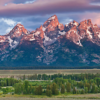 teton mountains jackson hole sunrise,