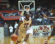 """Ole Miss guard Chris Warren (12)  at C.M. """"Tad"""" Smith Coliseum in Oxford, Miss. on Monday, December 13, 2010."""